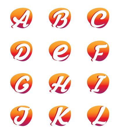 vowel: Creative alphabet letters Illustration
