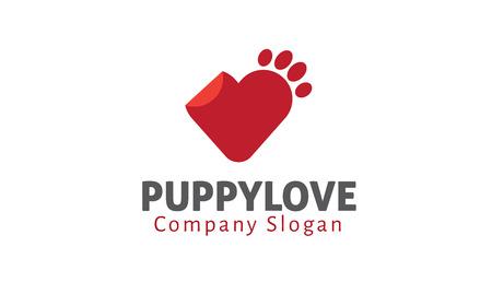 puppy love: Puppy Love Design Illustration