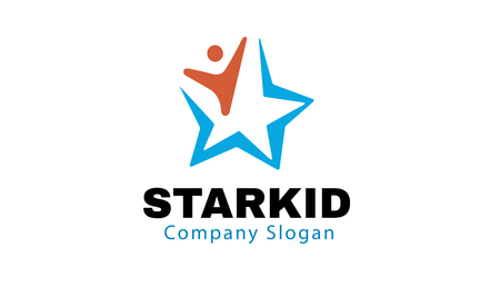 Star Kid Ontwerp Illustratie Stock Illustratie