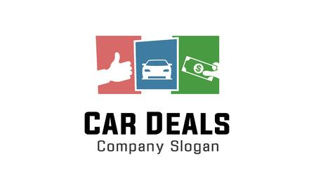logo marketing: Car Deals Design Illustration