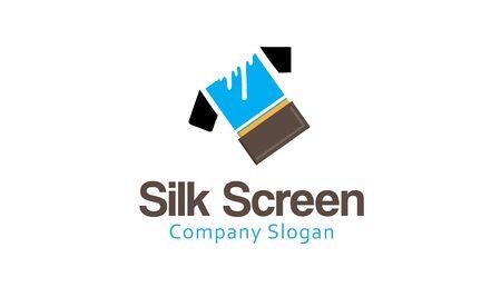 Silk Screen Design Illustration Illustration