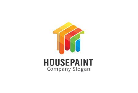 House Paint Design Illustration