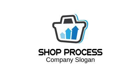 logo marketing: Shop Process Design Illustration