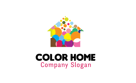 Color Home Design Illustration