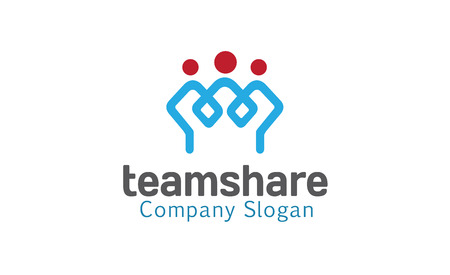 Team Share Design Illustratie