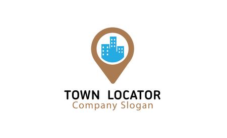 Town Locator Design Illustration  イラスト・ベクター素材