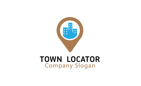 Town Locator Design Illustration 向量圖像