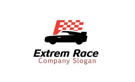 Extrem Race Design Illustration