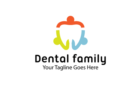 child care: Dental Family Design Illustration