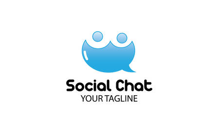 dating: Social Chat Design Illustration