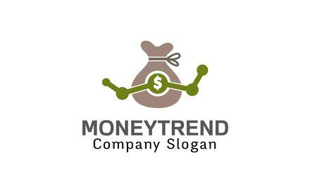 online logo: Money Trend Design Illustration Illustration