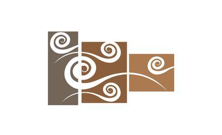 decorative wall: Abstract wall art sticker illustration