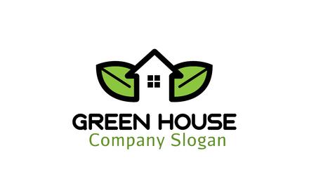 energy logo: Green House Design Illustration Illustration