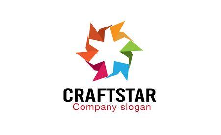 grey scale: Craft Star Design Illustration