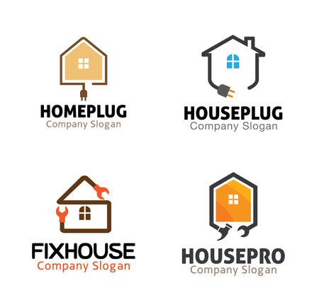 House Plumbing Design Illustration  イラスト・ベクター素材