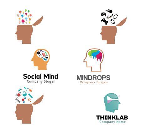 mente humana: Human Brain Mind Diseño Ilustración Vectores