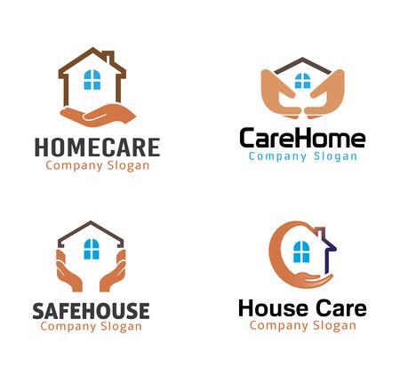 House Protection Design Illustration  イラスト・ベクター素材