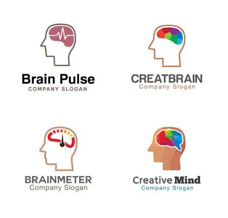 brain illustration: Human Brain Symbol Illustration