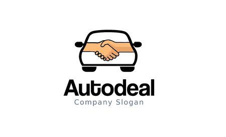 Illustrazione di disegno di marchio di Auto Deal