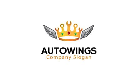 Auto Wing Logo Design Illustration