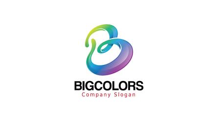 Große Farben Logo Design Illustration Standard-Bild - 80538683