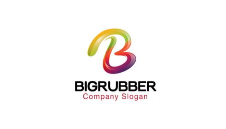 Große Gummi Logo Design Illustration Standard-Bild - 80538707