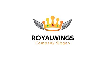 Royal Wings Logo Design Illustration Illustration