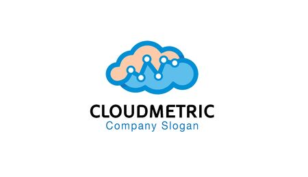 Cloud Metric Logo Design Illustration 向量圖像