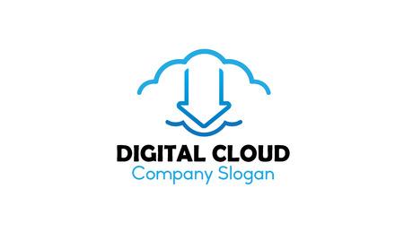 Digital Clouding Design Illustration