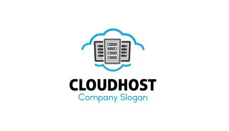 clouding: Cloud Host Logo Design Illustration Illustration