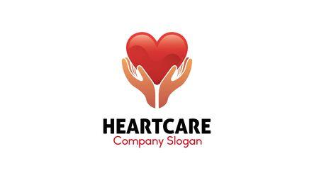 care: Heart Care Design Illustration Illustration