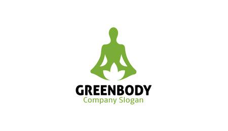 Green Body Logo Design Illustration Illustration