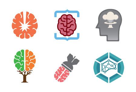 Brains Symbol Logo Design Illustration