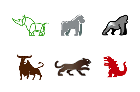 Animals collection Symbol Design Illustration