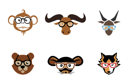 dog school: Animal heads design Illustration Illustration
