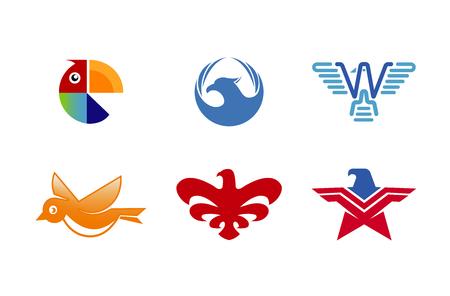Birds Collection Logo Symbol Design