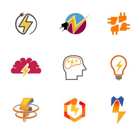 抽象的なアイデア コレクション シンボル デザイン  イラスト・ベクター素材