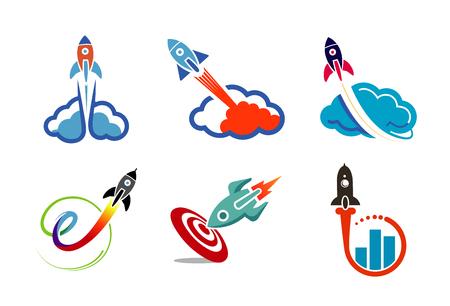 Clouds collection Logo Symbol Design Illustration