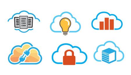 Cloud Symbol Logo Design Illustration