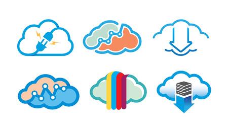 Clouds Symbol Logo Design Illustration