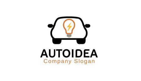 Auto Idea Logo Design Illustration