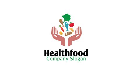 Health Food Logo Design Illustration