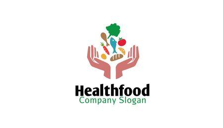 Illustration de conception de logo alimentaire pour la santé