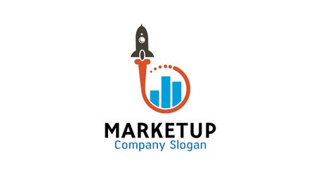 Market Up Logo Design Illustration