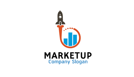 Market Up Logo Design Illustration