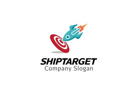 Ship target Logo Design Illustration Stock Illustratie