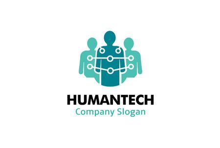 Human Tech Logo Design Illustration