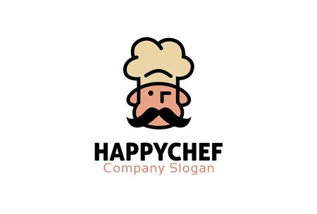 Happy Chef Logo Design Illustration Illustration