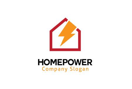 Home Power Logo Design Illustration