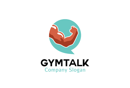 Gym Talk Logo Design Illustration